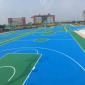 绿色环保硅PU篮球场施工材料防滑硅PU球场网球场硅PU